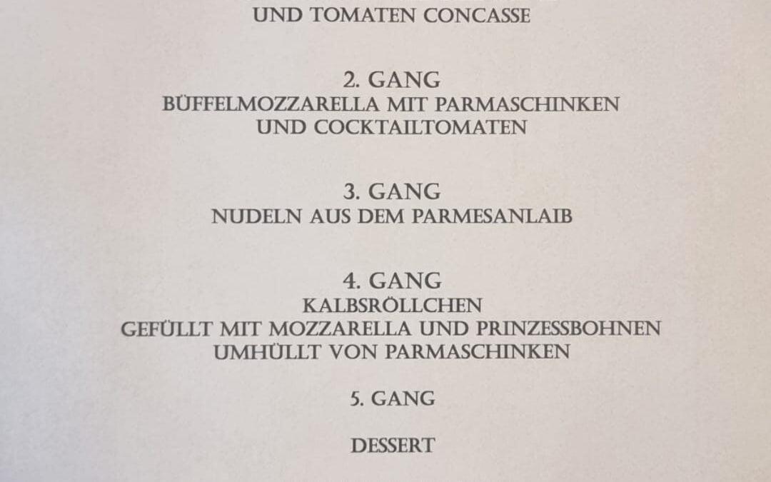 Parmesan trifft Parmaschinken – Veranstaltung am 6.11.2021